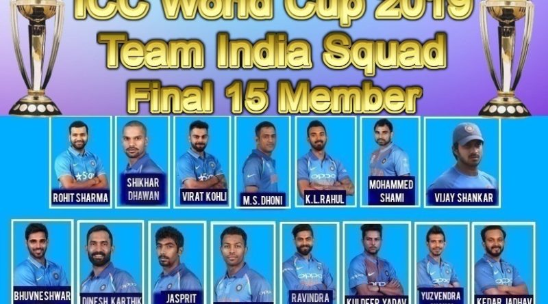india team squad for Cricket world cup 2019 image (2)
