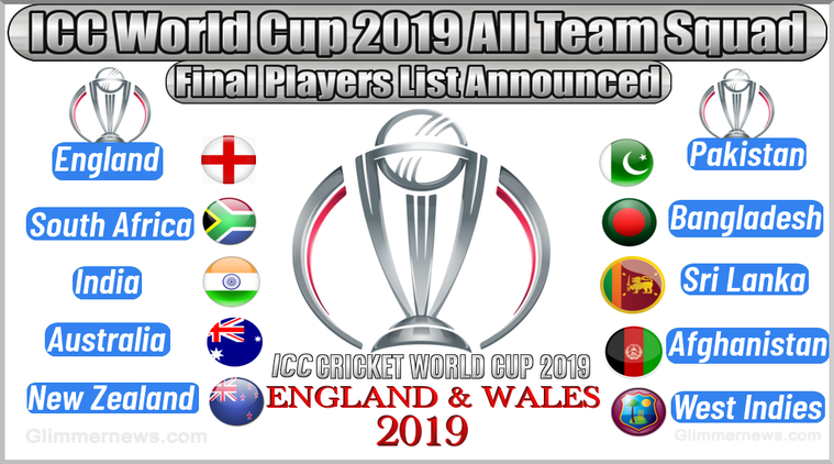 Cricket World Cup 2019 Full Squad list Image 5