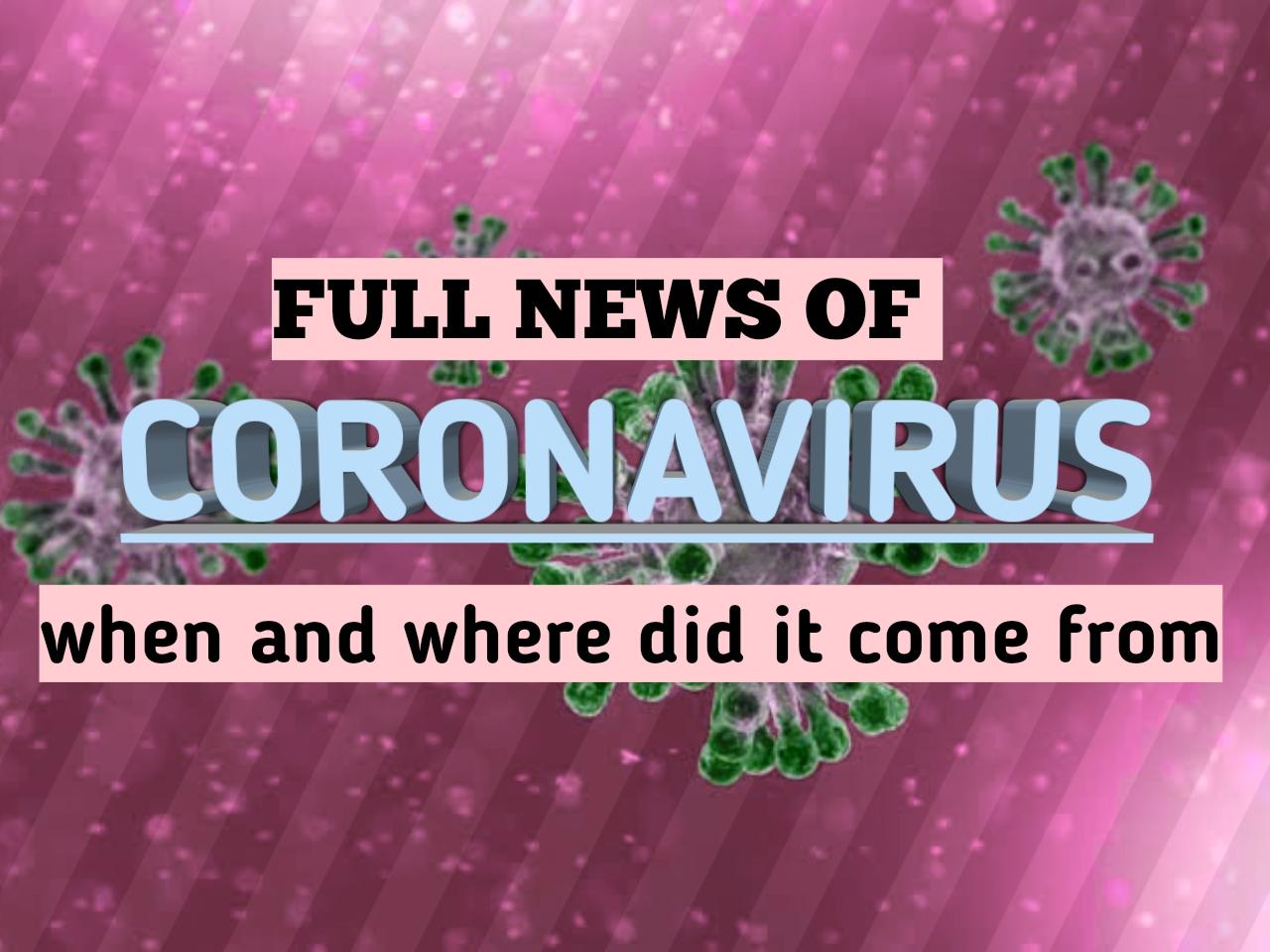 Coronavirus: जानिए कोरोना वायरस कब कैसे और कहां से आया